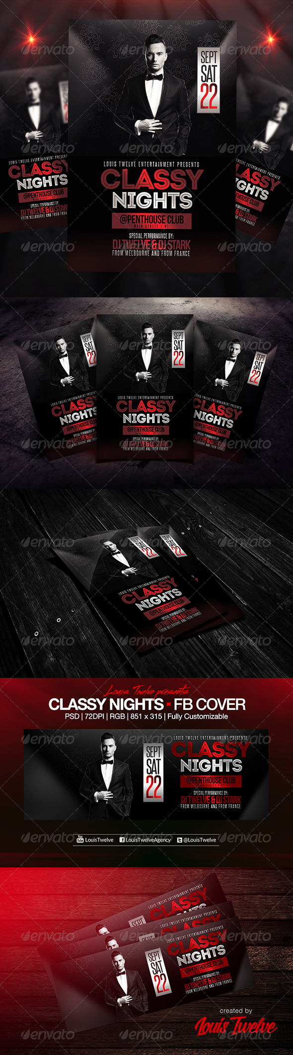 GraphicRiver Classy Nights Flyer & FB Cover 8639198