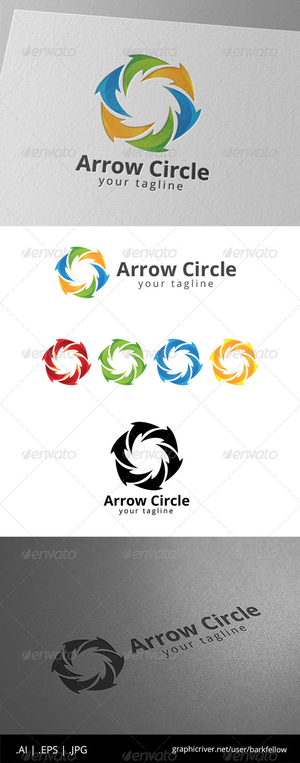 GraphicRiver Circle Arrow Social Community 8639383