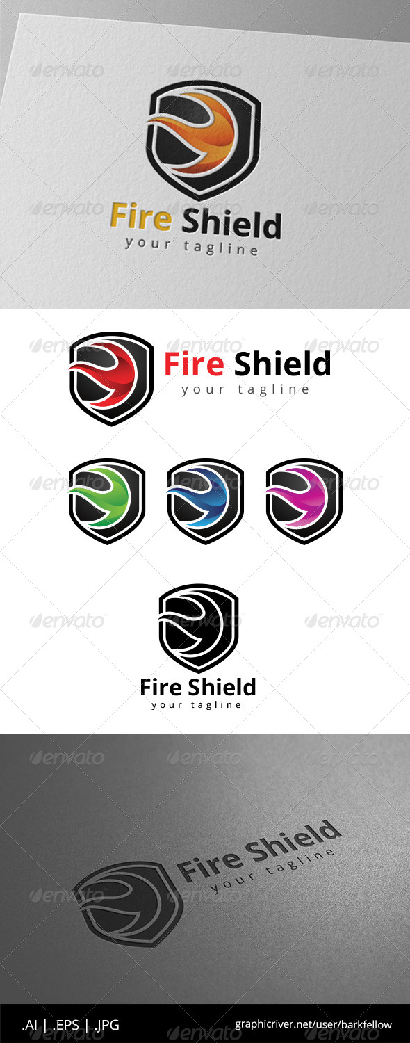 GraphicRiver Fire Shield Security Logo 8639385