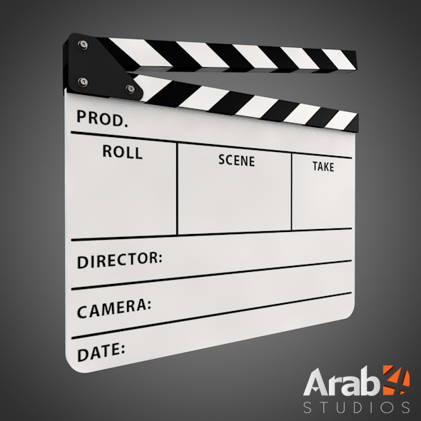 Clapperboard - 3DOcean Item for Sale