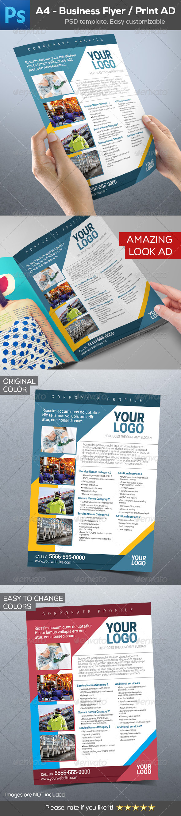GraphicRiver Business Industrial Flyer Print AD Template 8639442