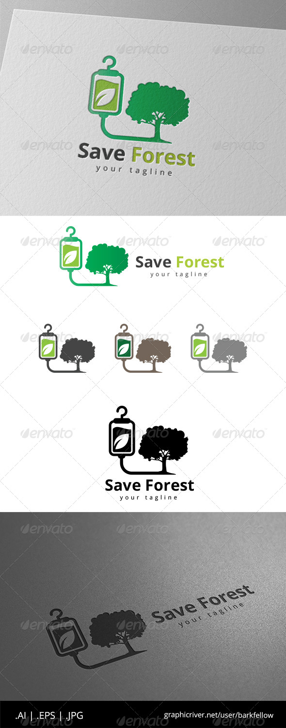GraphicRiver Safe Nature and Forest Logo 8639459