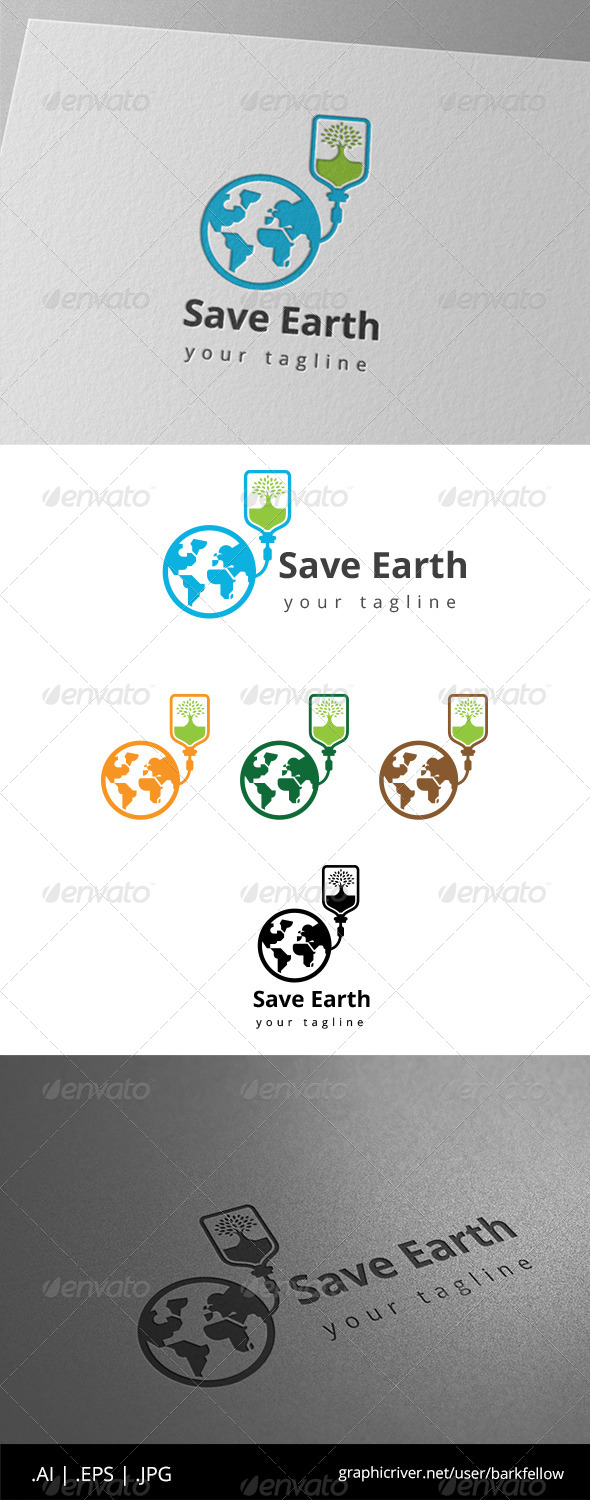 GraphicRiver Save Our Earth Logo 8639519