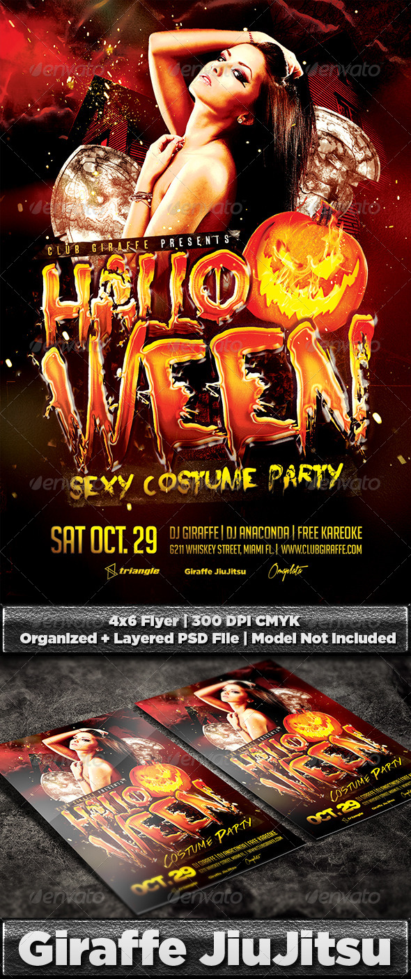 GraphicRiver Halloween Costume Party Flyer Template 8627839