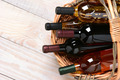 Basket of Wine Bottles - PhotoDune Item for Sale