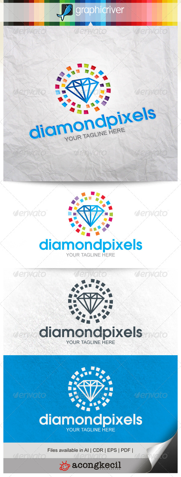 GraphicRiver Diamond Pixels V.2 8639596