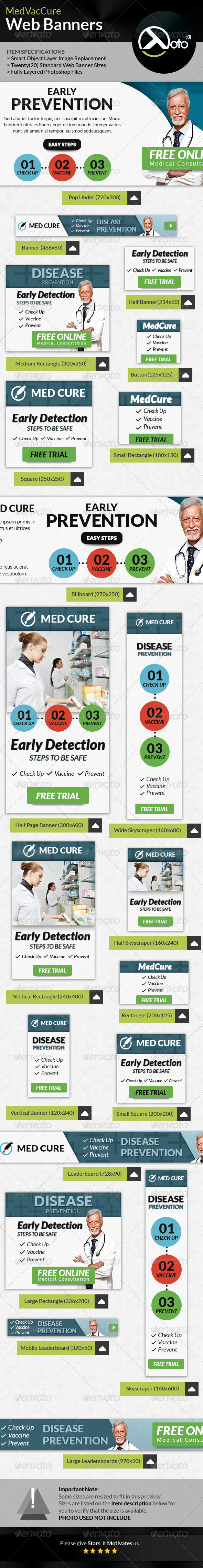 GraphicRiver Med Vac Cure Health Care Web Banners 8639659