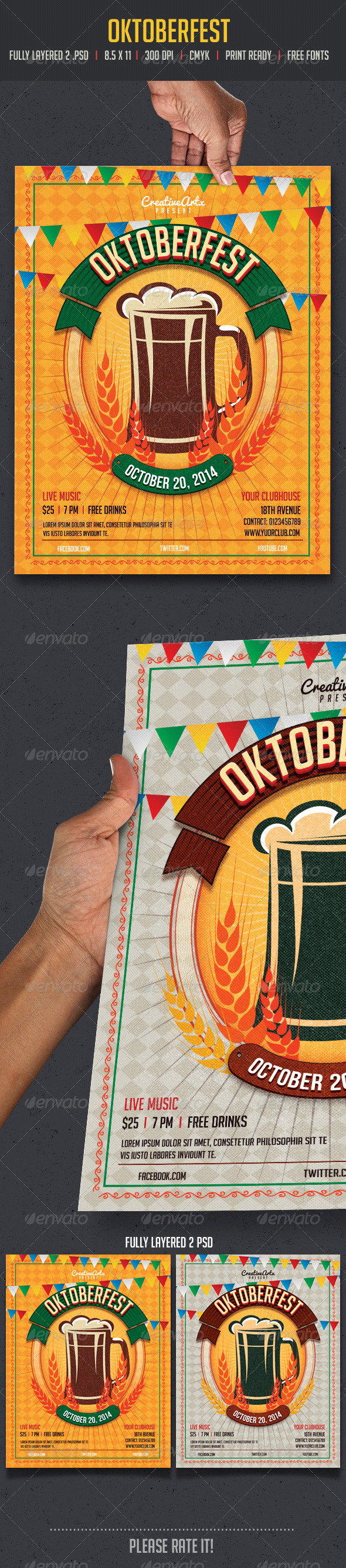 GraphicRiver Oktoberfest Flyer 8639660
