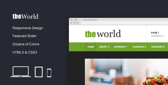 TheWorld - Fresh Magazine Template - Miscellaneous Site Templates