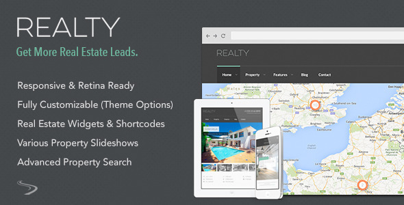 ThemeForest Realty Responsive Real Estate WordPress Theme 8583309