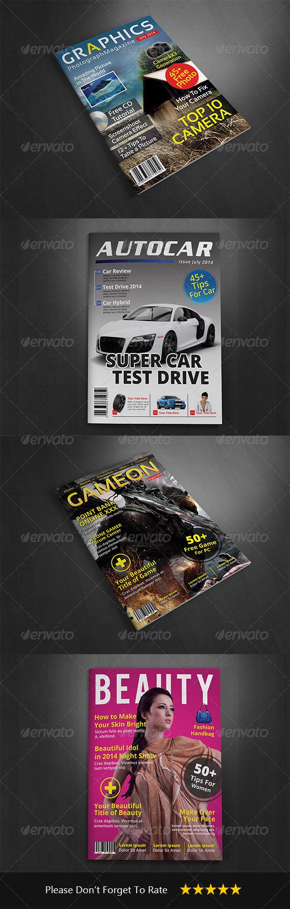 GraphicRiver Magazine Cover Template Vol 3 8631463