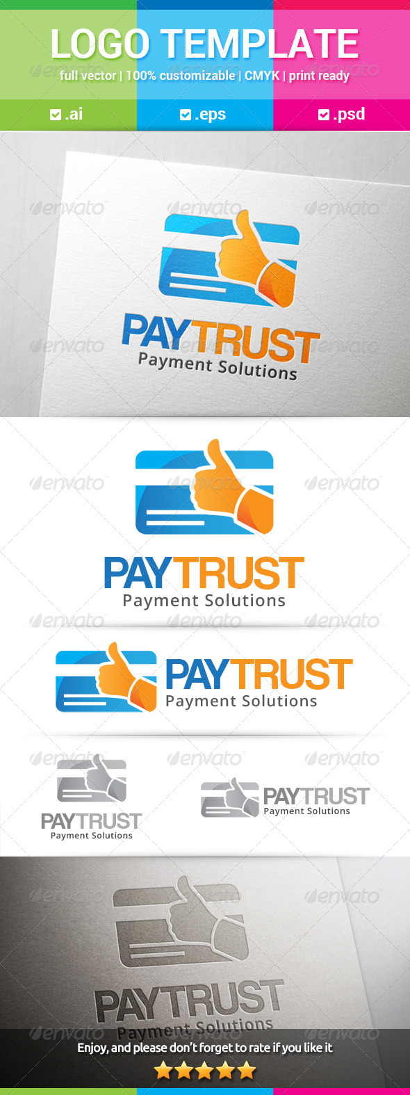 GraphicRiver Pay Trust Logo 8639810