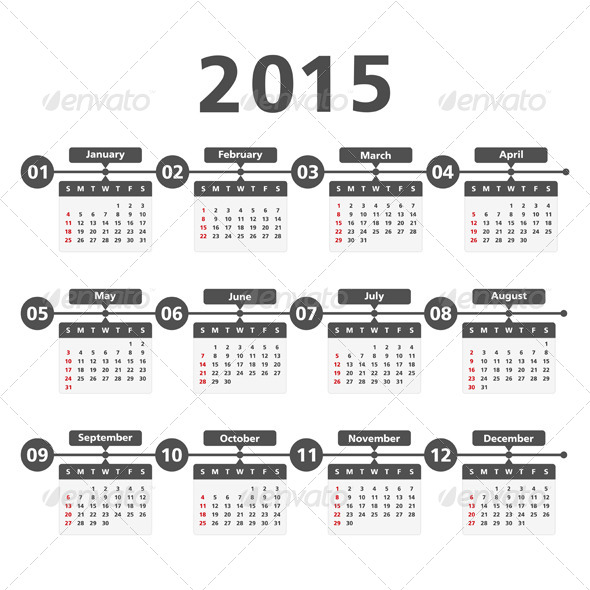 GraphicRiver 2015 Calendar 8639877