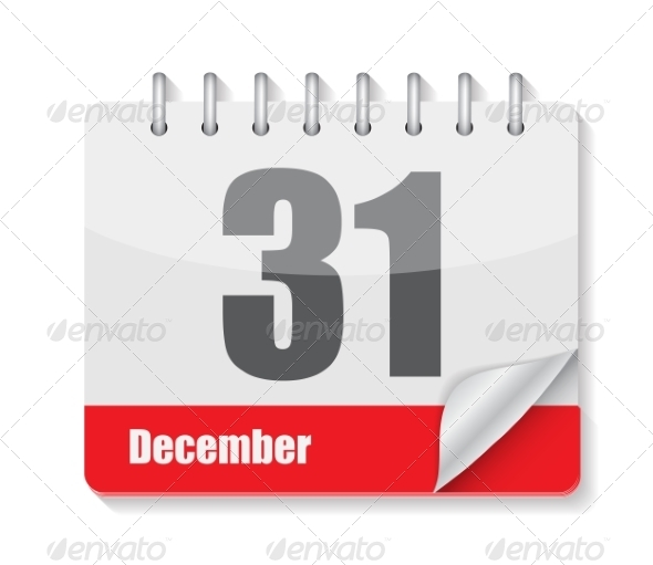GraphicRiver Flat Calendar Icon for Applications Vector Illustration 8639878