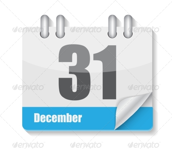 GraphicRiver Flat Calendar Icon for Applications Vector Illustration 8639879