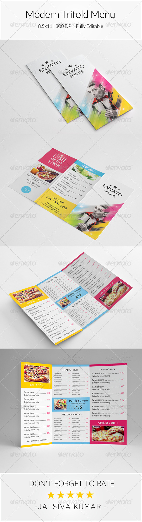 GraphicRiver Modern Trifold Menu 8639885