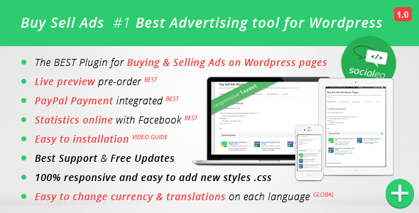 Buy Sell Ads, Sell Ads on the Wordpress pages BSA Wordpress Plugin, the best plugin to Buying and Selling Ads on Wordpress pages Lastest version v1.0.1 - url f