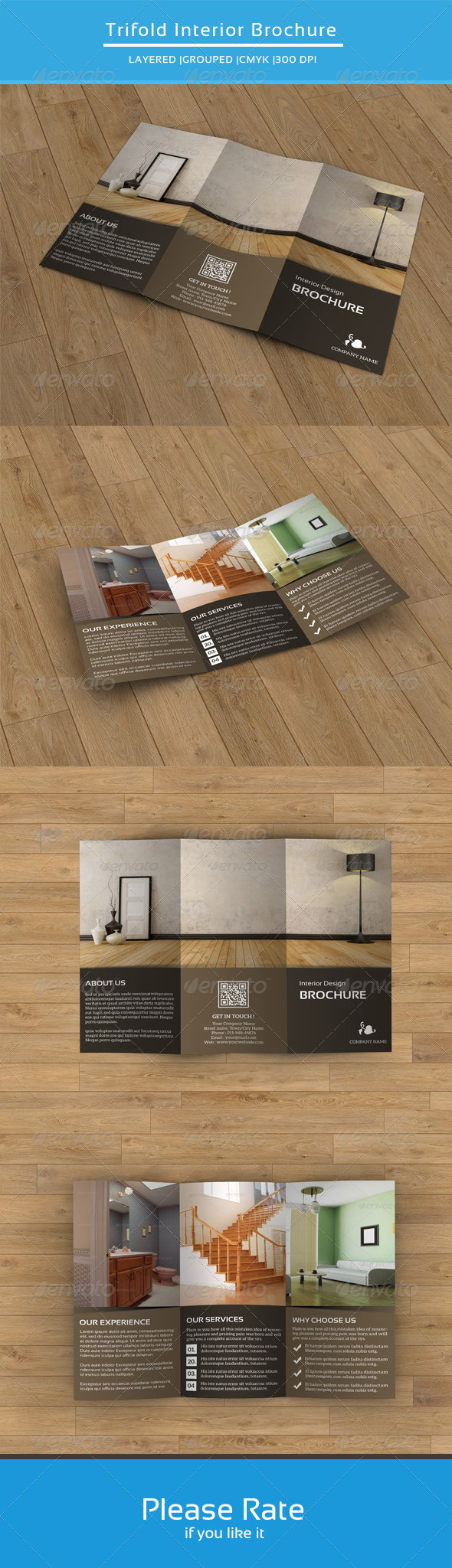 GraphicRiver Trifold Brochure for Interior Design-V54 8640252