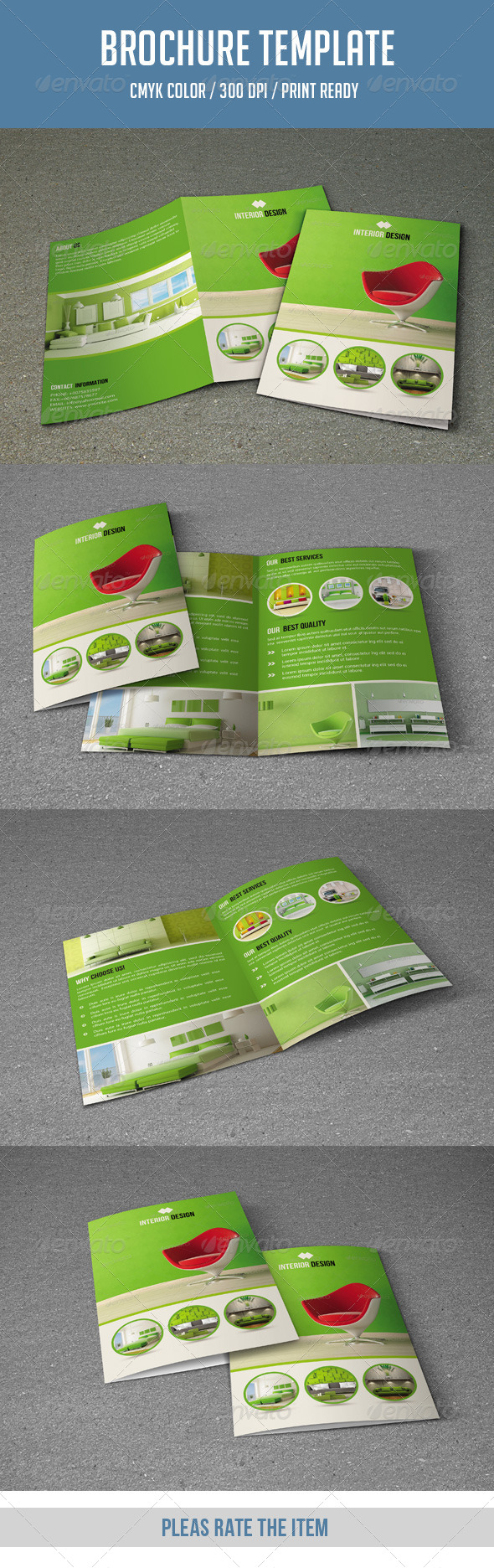 GraphicRiver Bifold Brochure for Interior Design-V115 8640325