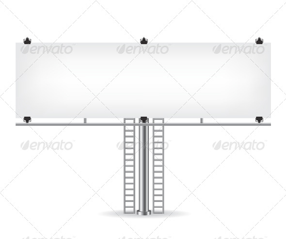 GraphicRiver Blank Metal Billboard 8640357