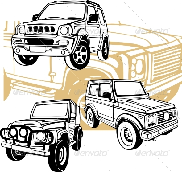GraphicRiver Off-Road Cars Set 8640392