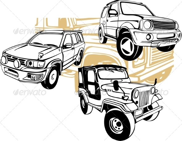GraphicRiver Off-Road Cars Set 8640395