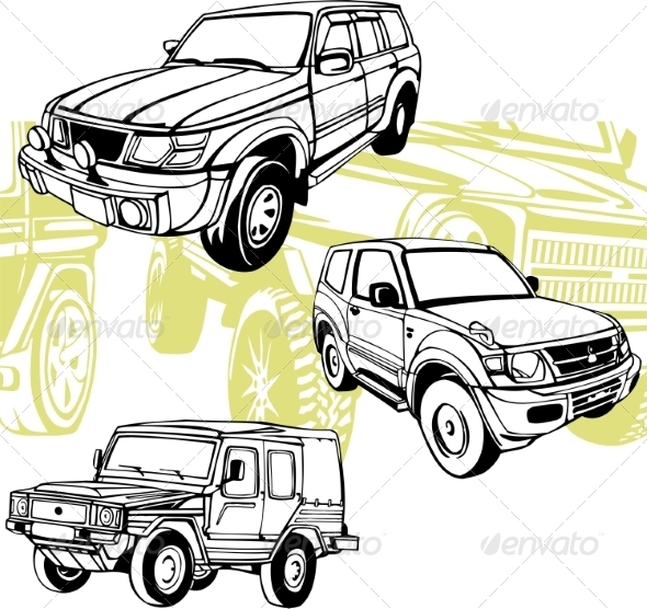 GraphicRiver Off-Road Cars Set 8640396