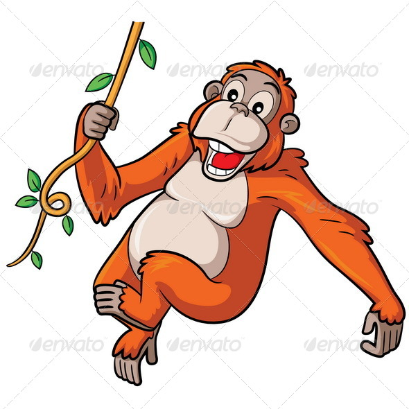 GraphicRiver Orangutan Cartoon 8640442