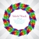 Colorful Wreath of Rainbow Feathers - GraphicRiver Item for Sale