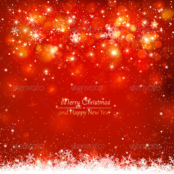 GraphicRiver Christmas Red Background 8640496