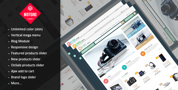 MOTORO - Digital Responsive Magento Theme - Technology Magento