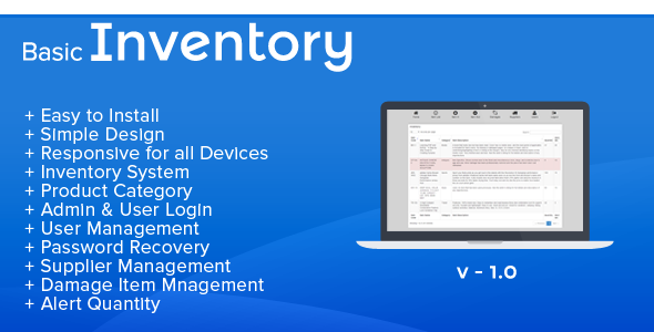 CodeCanyon Basic Inventory Stock Management 8613546