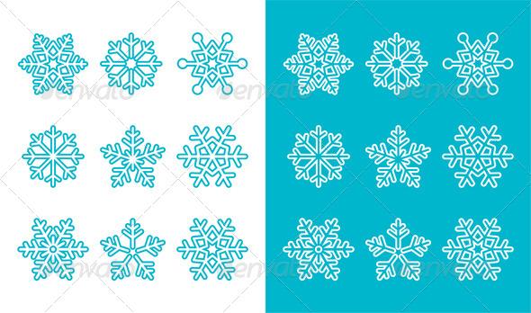 GraphicRiver Snowflake Symbols 8640531