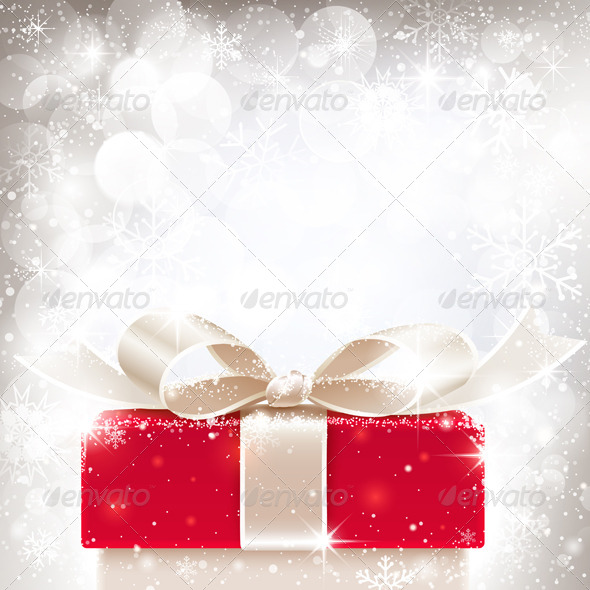 GraphicRiver Christmas Background with Gift 8640621