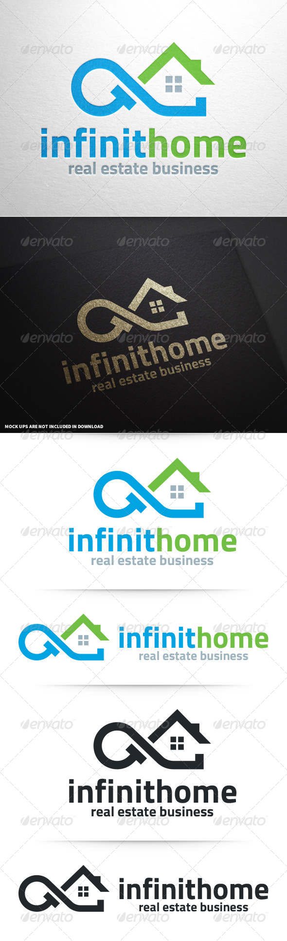 GraphicRiver Infinity Home Logo Template 8640693