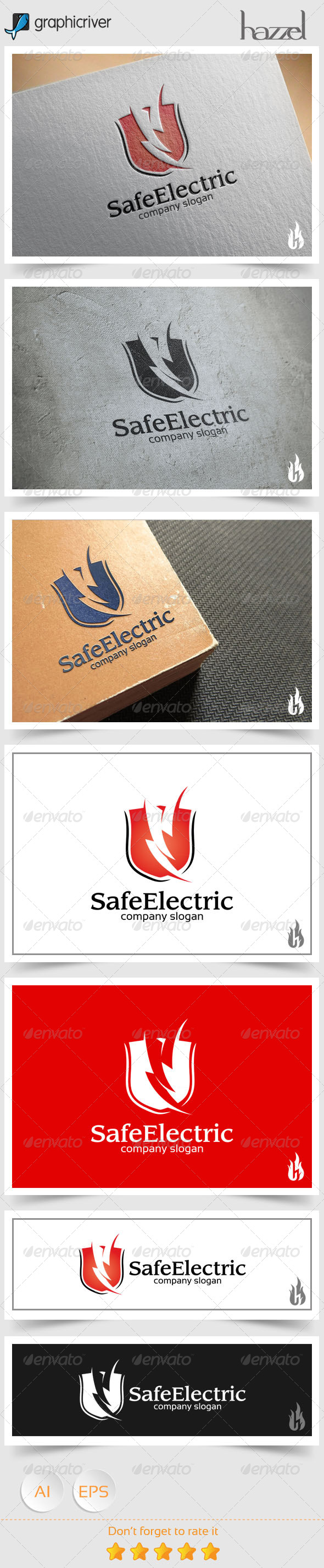 GraphicRiver Safe Electric Logo 8640707