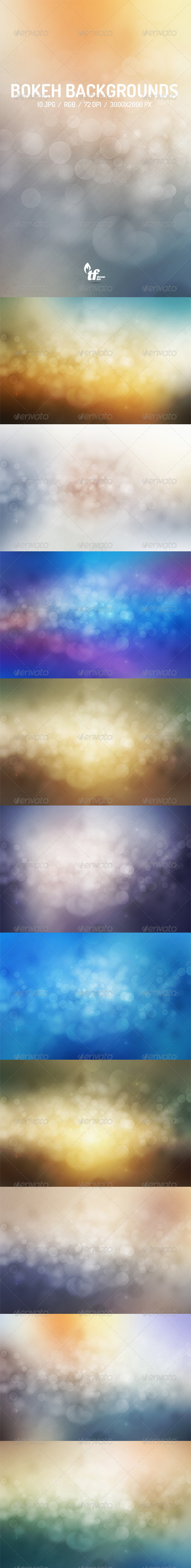 GraphicRiver Abstract Light Bokeh Backgrounds 8640792