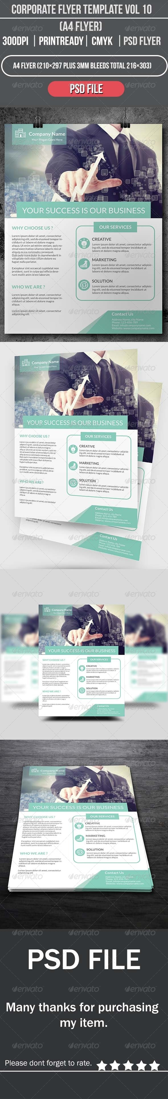 GraphicRiver Corporate Flyer Template Vol 10 8640795