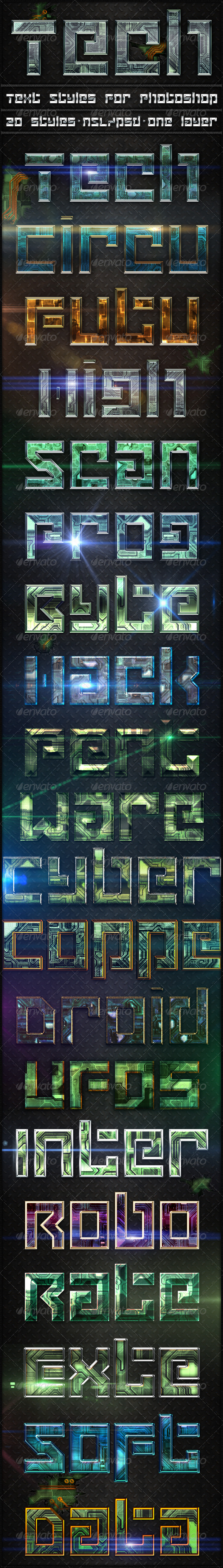 GraphicRiver Tech Text Styles 8640797