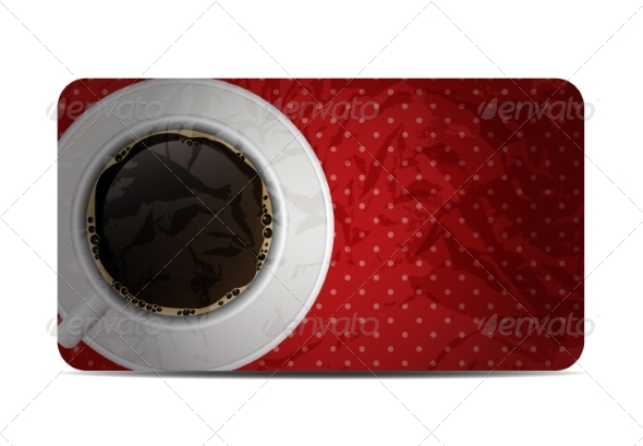 GraphicRiver Vintage Coffee Gift Card Vector Illustration 8640928