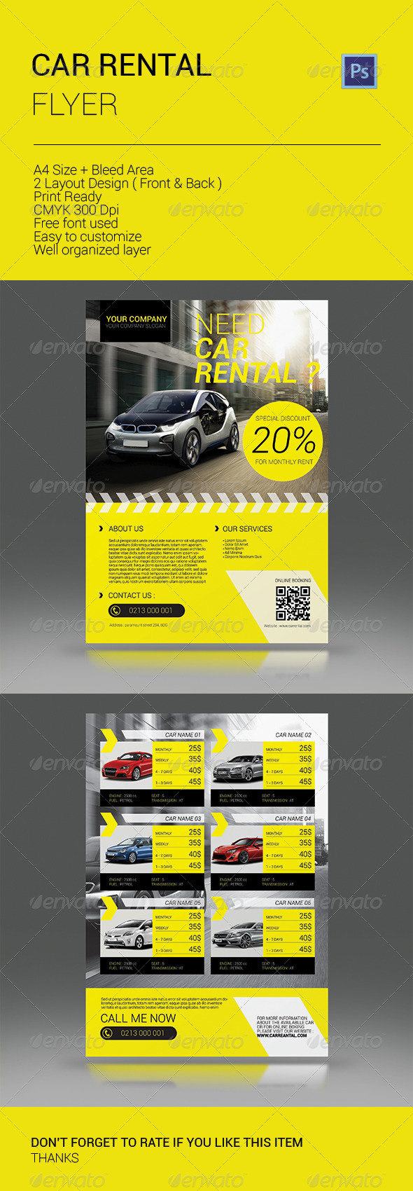 GraphicRiver Car Rental Flyer 8640929