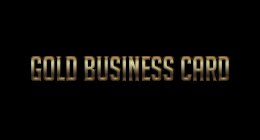 Gold & Black Business Card