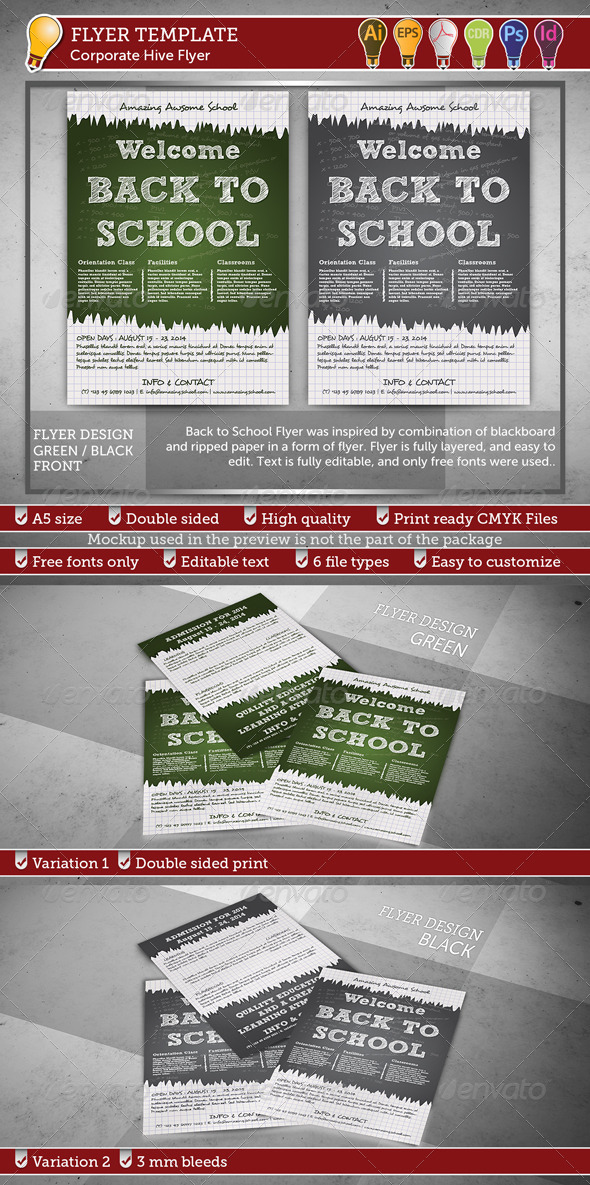GraphicRiver Back to School Flyer 8640947