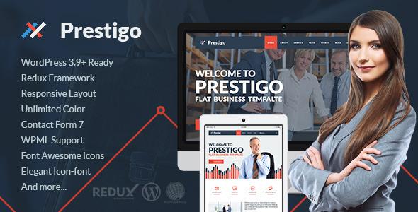 Download Prestigo - Flat Premium WordPress Theme nulled download