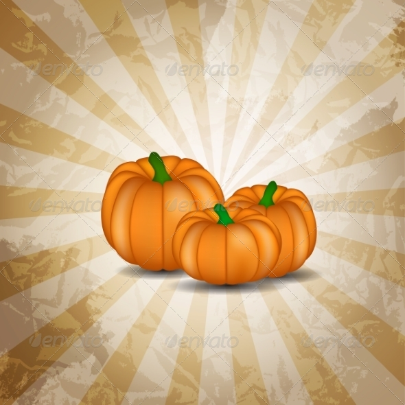 GraphicRiver Orange Pumpkin Background Vector Illustration 8641033
