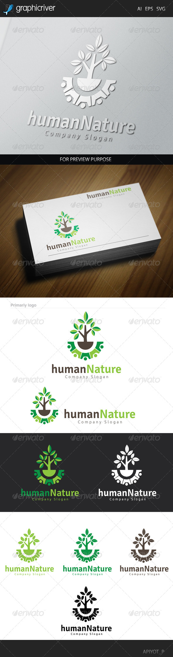 GraphicRiver Human Nature Logo 8641103