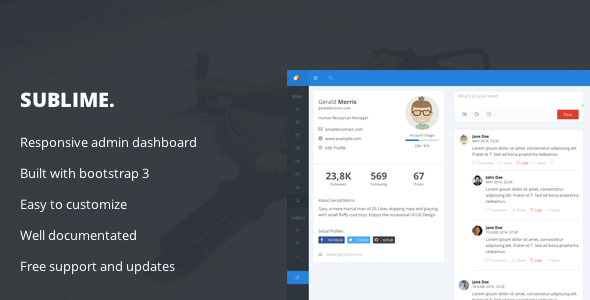 ThemeForest Sublime Web Application Admin Dashboard 8641124