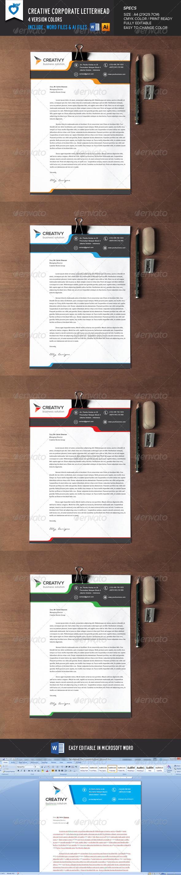 GraphicRiver Creative Corporate Letterhead 8641357