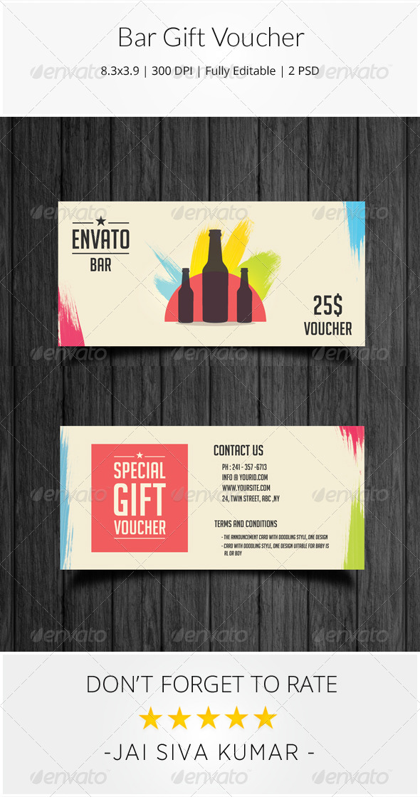 GraphicRiver Bar Gift Voucher 8641616