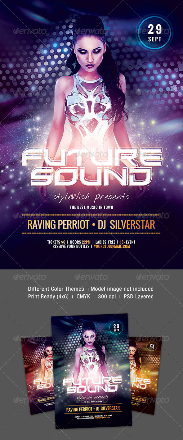 GraphicRiver Future Sound Party Flyer 8638332